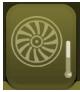 icono sistema calentamiento turbina