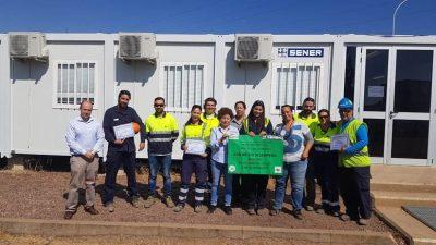 Reconocimiento de SENER ENCE a TAMOIN Puertollano